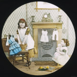 Two Little Girls Wash Their Dolls' Clothes