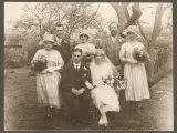Small Wedding Group Consisting of the Bride and Groom