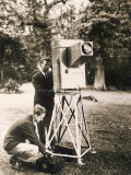 John Logie Baird Demonstrates His Noctovisor