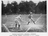 Baseball Match Between USA and Sweden