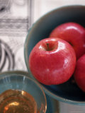 Still Life of Apples and Honey in Bowls