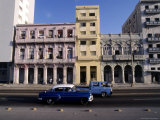 Along the Malecon  Havana  Cuba