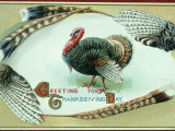 Retro Image of Thanksgiving Day Card