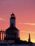Sunset at Michigan East Pier Lighthouse  IN