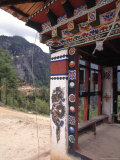 Detail of Stupa Outside of Paro  Bhutan