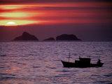 Arpoador Beach  Cagaras Island  Rio de Janeiro  Brazil