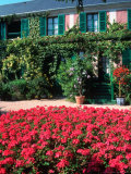Exterior of Painter Monet's House  Giverny  France