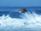 Surfing Banzai Pipeline  Oahu  HI