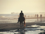 Person on Horse at Beach