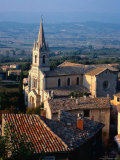 Aerial of Church  Provence  France