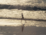 Boy Running on Beach  Venice Beach  CA