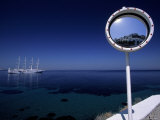 Mykonos Harbor Through Mirror  Greece