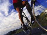 Person Riding Bicycle  Mt Tamalpais  CA