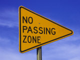 Sign for &quot;No Passing Zone&quot;