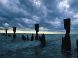 Dark Sky and Broken Pillars  Naples  FL