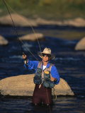 Man Fly Fishing  Animas River  CO