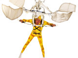 Man in a Flying Machine with Yellow Suit