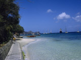Harbor and Sidewalk  Bequia  Grenadines