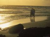 Aruba  Couple Walking on Beach