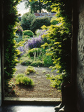 View Through Doorway to Country Garden  Herterton House
