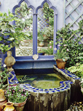 Ornate Raised Pond Edged with Slate and Mosaic Design  Brighton