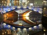 Triple Bridge at Night  Slovenia
