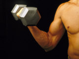 Body Building-Curling Dumbbell Biracial