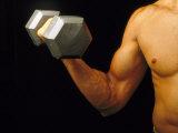 Body Building-Curling Dumbbell Biracial