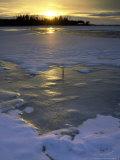 Winter Sunset Light  Peninsula State Park  Wi
