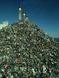 Metal Separated from Trash at Trash Burning Power Plant  Columbus