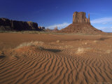 West Mitten Butte and Sand Dunes  Navajo Tribal Park  Utah