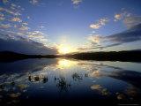 Loch Insh at Sunset  October Kincraig  Highlands  Scotland