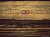 Detail of Buddhist Documents in Monastery at Jarkhot  Nepal Himalaya