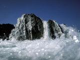 Atlantic Wave Washing Over Rock  County Cork  Ireland