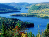 Lake Wapizagonke in Early Autumn  Quebec  Canada