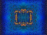 Blue and Orange Fractal Design