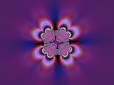 Abstract Pattern on Purple Background