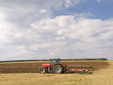 Tractor Ploughing a Field  England