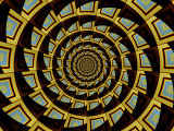 Abstract Circular Fractal Design