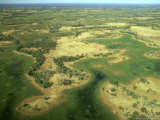 Aerial View of Inland Sea Formed by Okavango Delta  Botswana