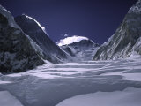 View of the Western Comb  Mt Lhoste and Everest  Nepal
