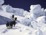 Mountaineering up Khumbu Ice Fall