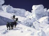 Mountaineering up Khumbu Ice Fall