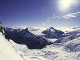 Snowy Mountain Top  New Zealand