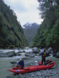 Kayakers on River  Chile