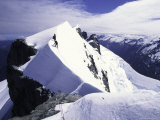 Close up of Climbers on Mt Aspiring  New Zealand