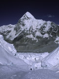 View of Mount Pumori from Khumbu Ice Fall  Nepal