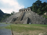 Mayan Temple in Palenque  Mexico