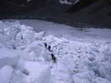 Mountaineering on Khumbu Ice Fall