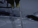 Crossing Ladder on Everest  Nepal